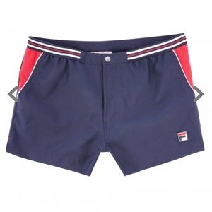 New Fila Vintage Hightide 4 Navy and Red Shorts